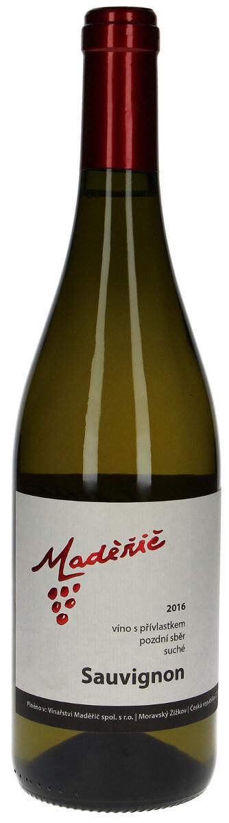Vinařství Maděřič Sauvignon pozdní sběr 2016, 0,75 l