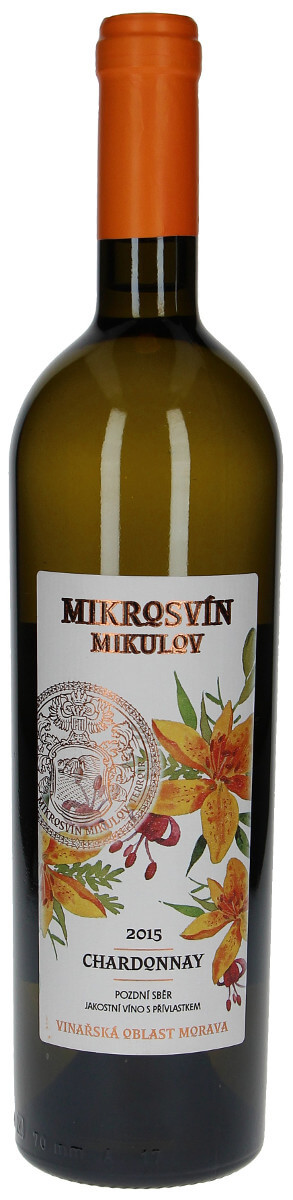 Vinařství Mikrosvín Chardonnay - F. Line pozdní sběr 2015, 0,75 l
