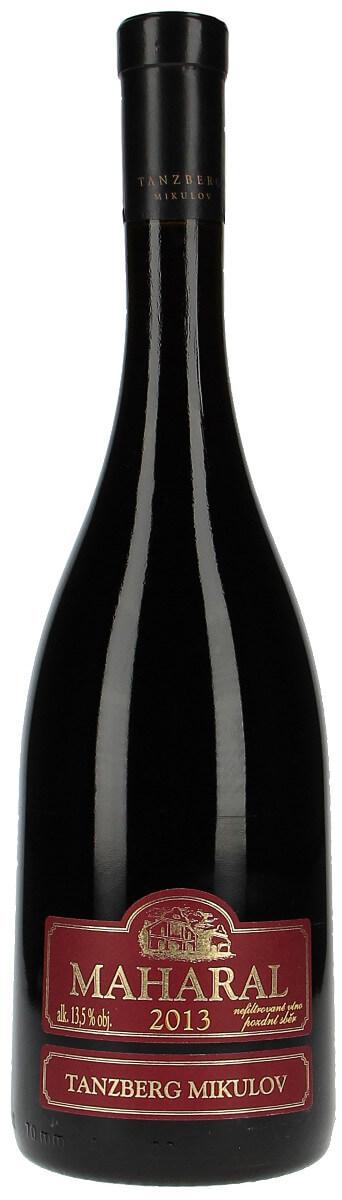 Vinařství Tanzberg Cuvée Maharal Cabernet Sauvignon + Merlot + Frankovka pozdní sběr 2013, 0,75 l