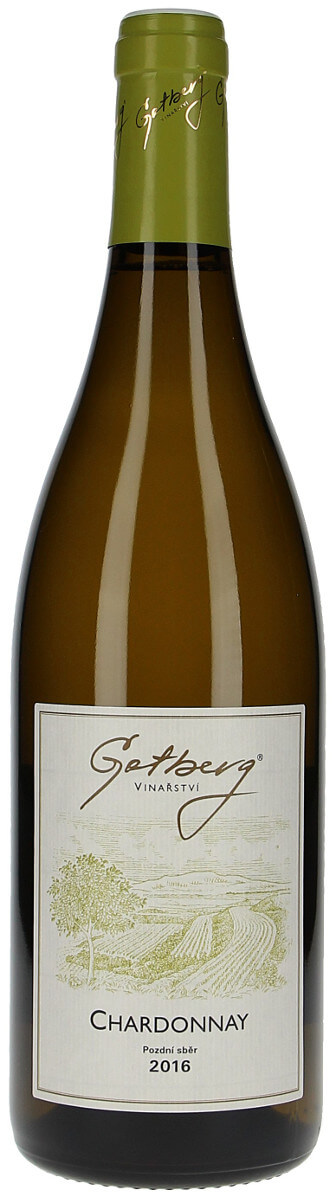 Vinařství Gotberg Chardonnay pozdní sběr 2016, 0,75 l