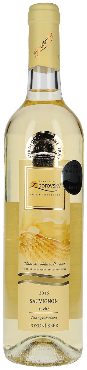 Vinařství Zborovský Sauvignon pozdní sběr 2016, 0,75 l