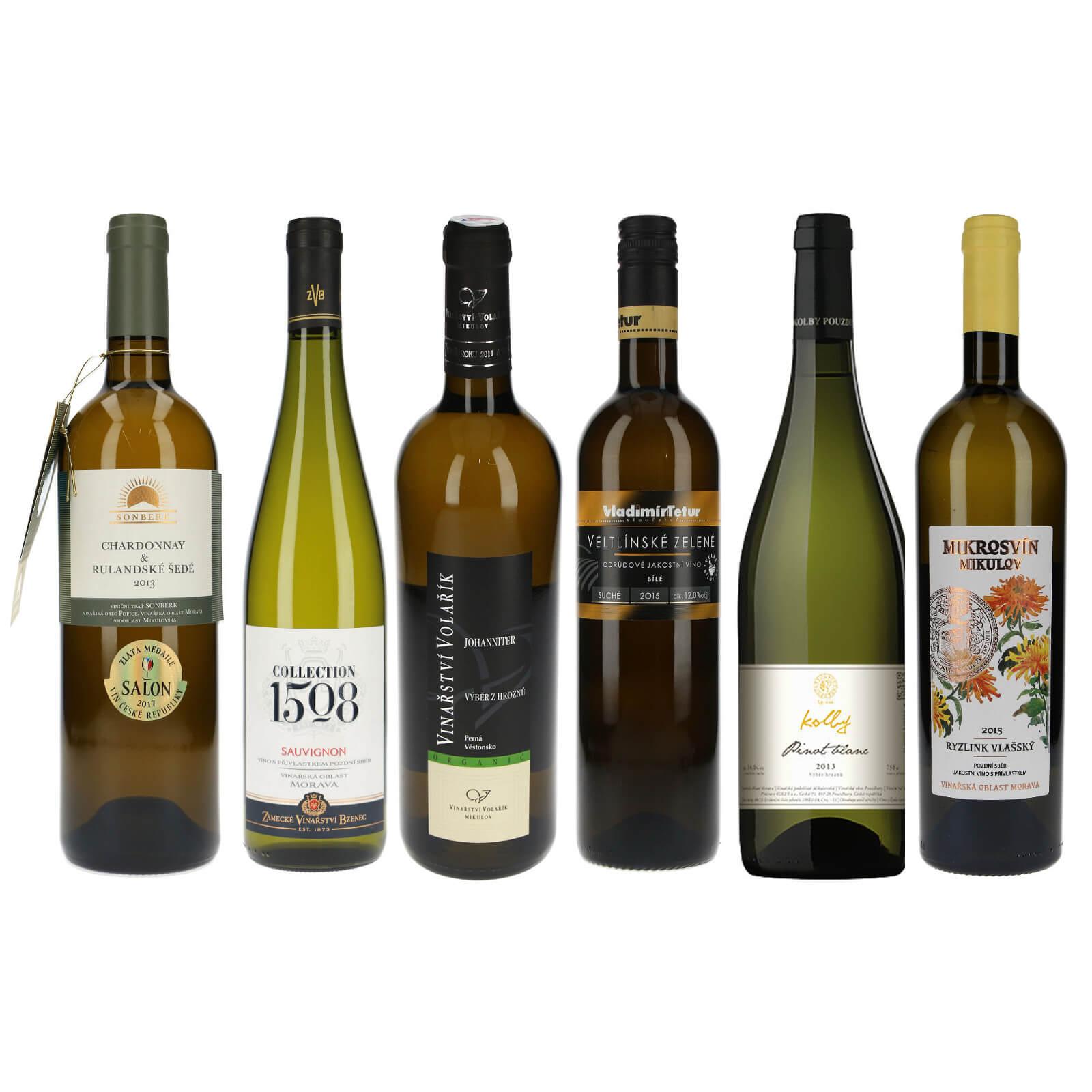 Výběr bílých vín ze Salonu - Zlatí medailisté