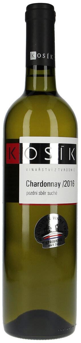 Vinařství Kosík Chardonnay pozdní sběr 2016, 0,75 l