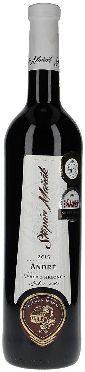 Vinařství Maňák André výběr z hroznů 2015, 0,75 l