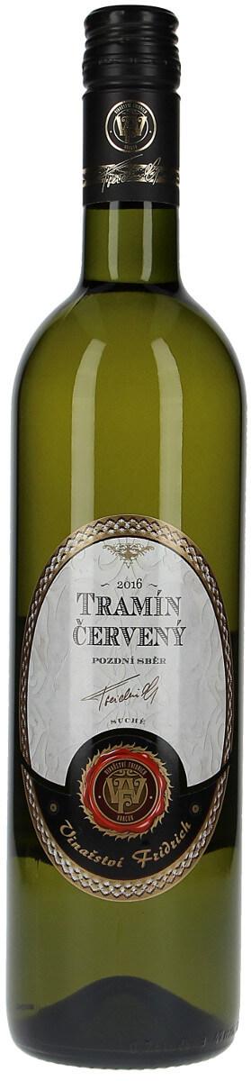Vinařství Fridrich Tramín červený pozdní sběr 2016, 0,75 l