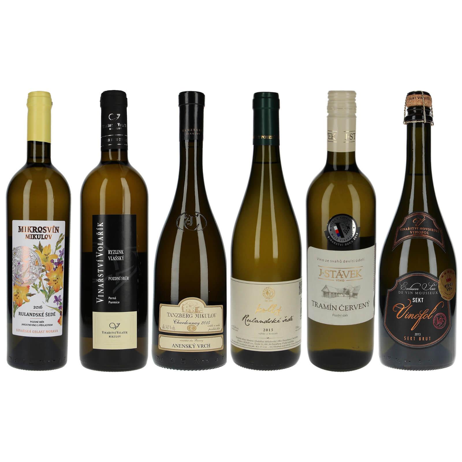 Výběr bílých vín z Krále vín - Zlatí medailisté