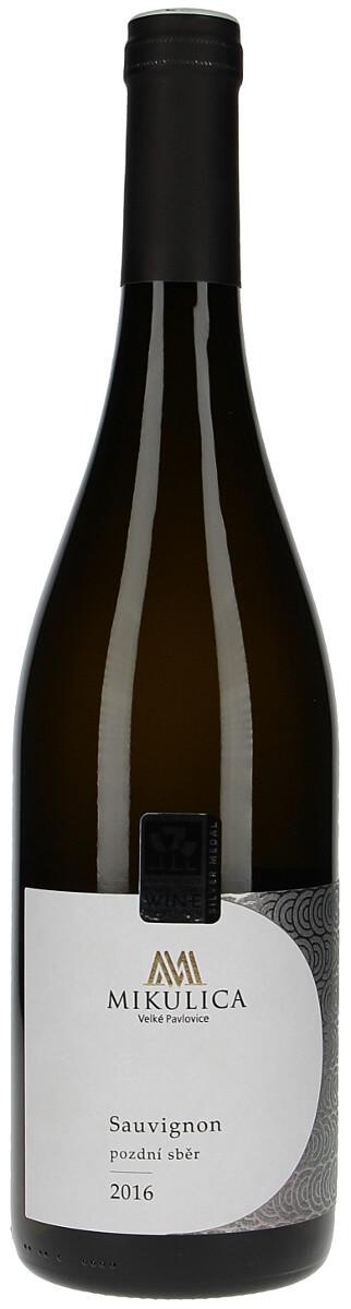 Vinařství Mikulica Sauvignon pozdní sběr 2016, 0,75 l