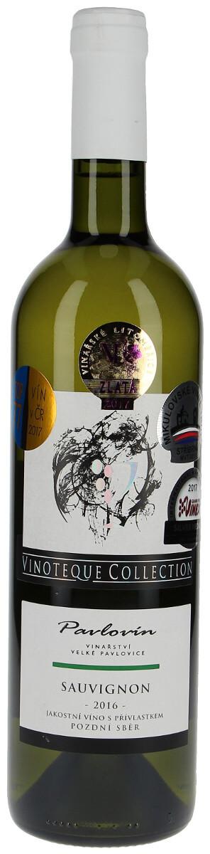 Vinařství Pavlovín Sauvignon pozdní sběr 2016, 0,75 l