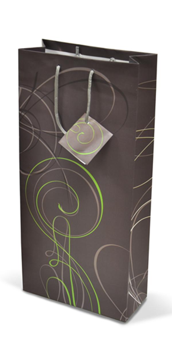 Papírová taška na 2 láhve T0041