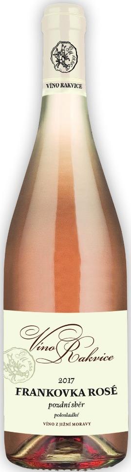 Frankovka rosé 2017, pozdní sběr, Víno Rakvice