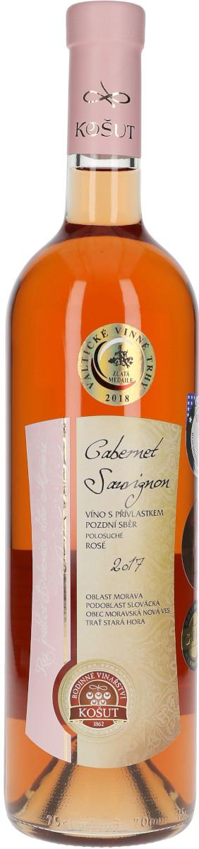 Cabernet Sauvignon rosé 2017, pozdní sběr, Rodinné vinařství Košut