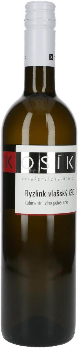 Ryzlink vlašský 2018, kabinetní, Vinařství Kosík