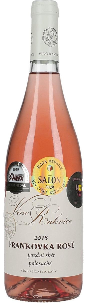 Frankovka rosé 2018, pozdní sběr, Víno Rakvice