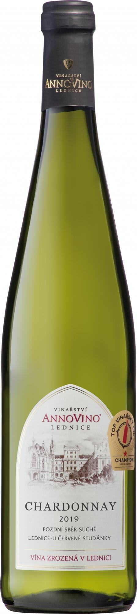 Chardonnay 2019, pozdní sběr, AnnoVino Lednice
