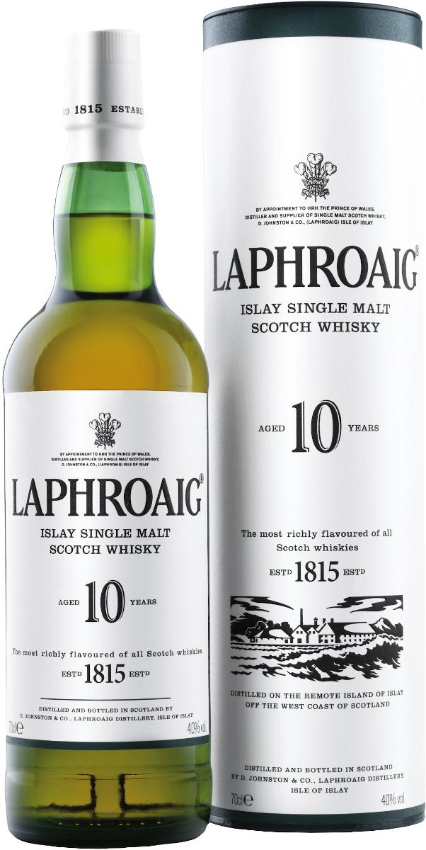 Laphroaig 10 YO, Islay Island (dárk. tuba) 40% vol., Whisky, Laphroaig Distillery