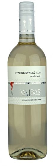 Ryzlink rýnský 2020, pozdní sběr, Bronislav Vajbar