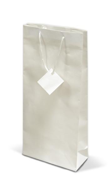 Dárková papírová taška s potiskem na dvě lahve